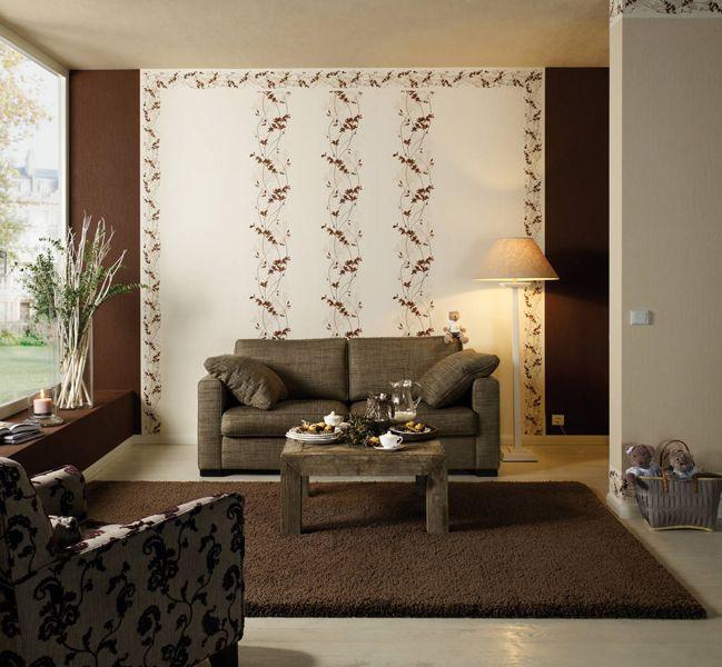 wandgestaltung wohnzimmer mit tapete Beispiele Wir führen eine fast ...