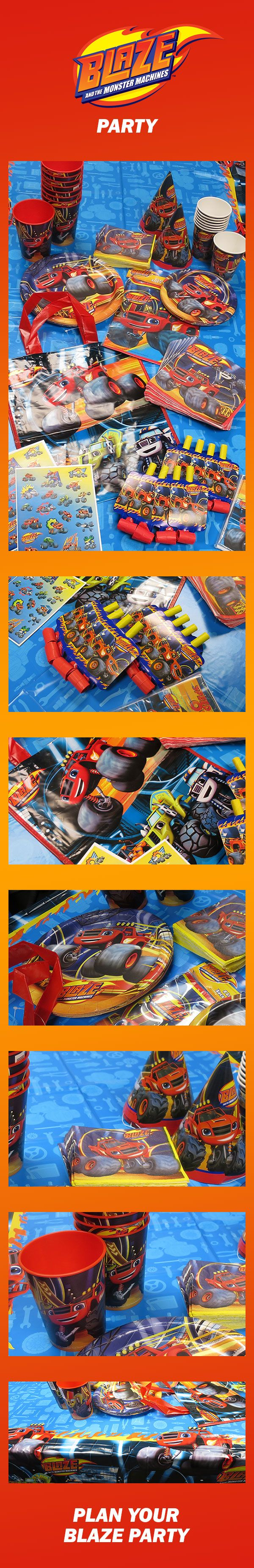 Blaze is back with a new party design! Blaze & the Monster Machines party supplies, one of the hottest themes for boy birthday parties, feature everything from tableware & decorations to favors & invitations. Start your planning now: http://www.discountpartysupplies.com/boy-party-supplies/blaze-and-the-monster-machines?utm_source=Pinterest&utm_medium=social&utm_content=PinterestSkyscraperImage&utm_campaign=BlazePromotedPin-2
