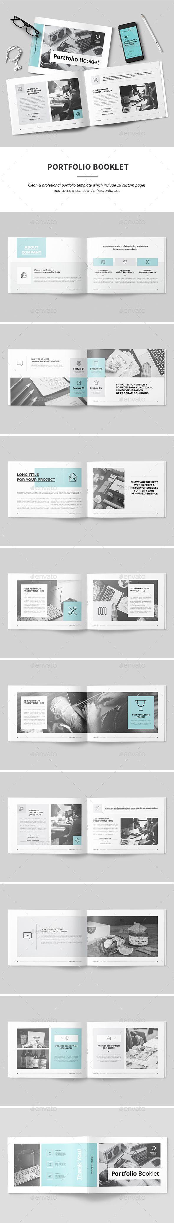 Portfolio — InDesign INDD #210x297 #portfolio • Download ➝ https://graphicriver.net/item/portfolio/18850600?ref=pxcr