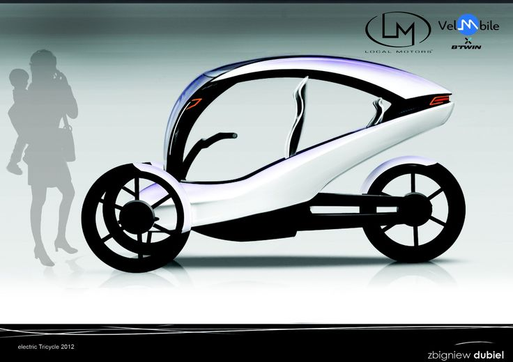 Electric Tricycle design with focus on reliability, accessibility and on safety. Tricycle is for one adult with special access for the baby â€ââ'...