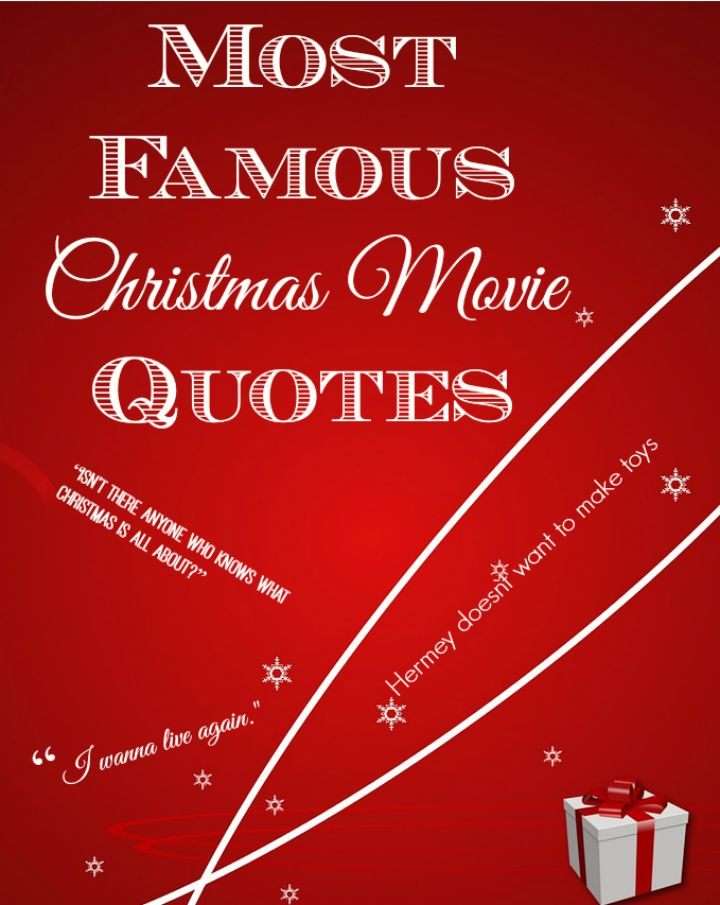 We're sharing a few of our favorite most famous Christmas movie quotes to get you in the spirit of the holidays! Which are your favorites?