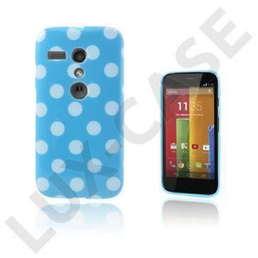 Polka Dots (Blauw) Motorola Moto G Hoesje