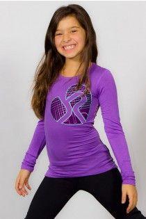 Purple <3 JP long sleeves Fashion Top