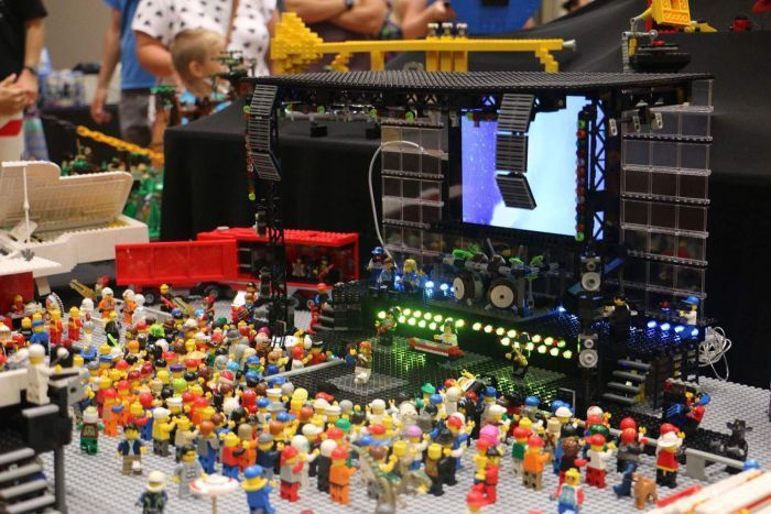 Lego mosh pit display at Brick Event, this will be held on the Gold Coast in September