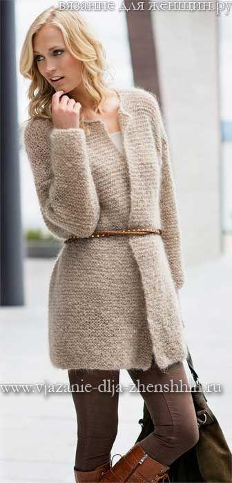 Вязание пальто спицами для женщин