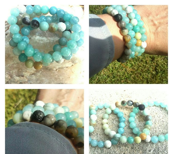 Lava Bead Bracelets, Yoga Bracelet Set, Amazonite Bracelet Set,Yoga Bracelets,Precious Stone Bracelets,Oil Bracelet,Aromatherapy Bracelets by BeeInspiredShoppe on Etsy https://www.etsy.com/listing/248625878/lava-bead-bracelets-yoga-bracelet-set