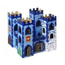 Château fort en carton à assembler et à colorier, 12 feutres