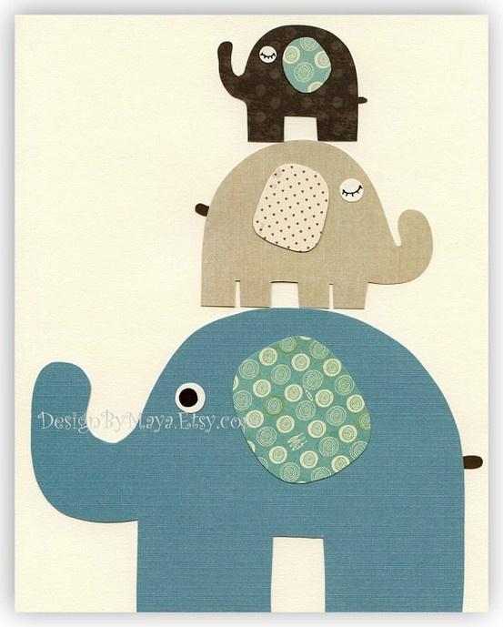 Dibujo de elefante que sirve como plantilla o molde manualidades fieltro y tela