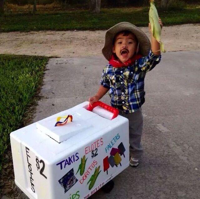 Cute costume elote man