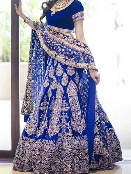 Exotic Blue Bridal Manish Malhotra Lehenga buy it now at andaazcollectionscanada