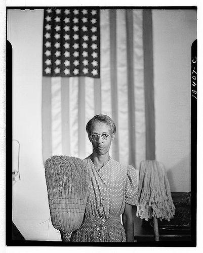 Washington, D.C. Government charwoman, 1942. Photo by Gordon Parks