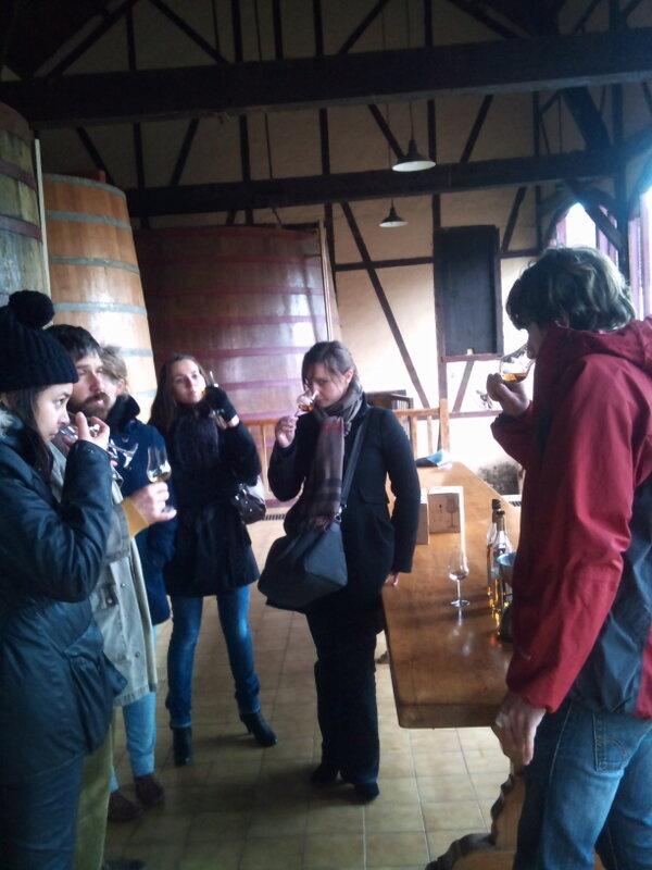 Tasting Armagnac Laubade avec les étudiants de l'université des Eaux-de-vie de Segonzac._Février 2013