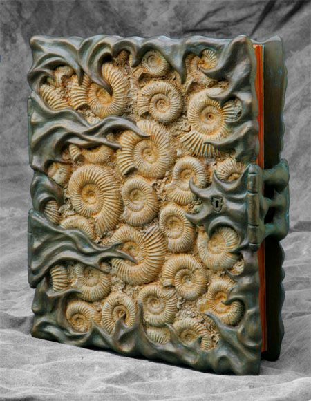 Fossil  Book cover (sculpture and paint) by Tim Baker