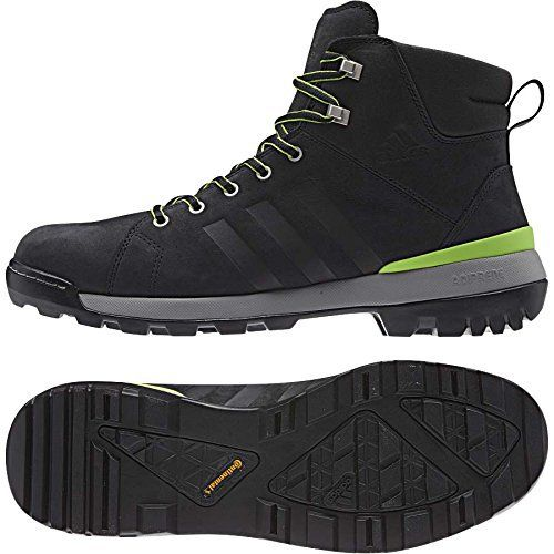 Adidas Trail Cruiser Mid Shoe - Men's Black / Semi Solar Green 8.5 - http://authenticboots.com/adidas-trail-cruiser-mid-shoe-mens-black-semi-solar-green-8-5/