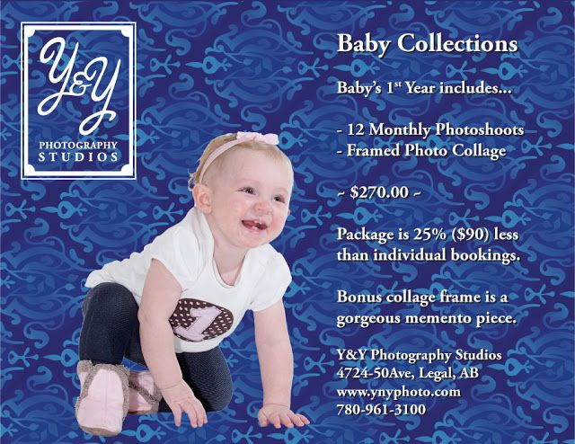 A Photographic Journey with Y&Y Photography Studios:  We have gorgeous 12-month Baby's 1st Year collage...