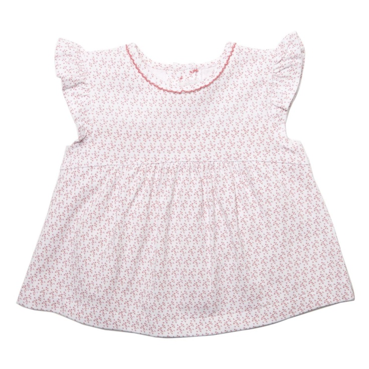Bebe frill sleeve top check out the matching print bloomer, your little treasure will be very special this Summer