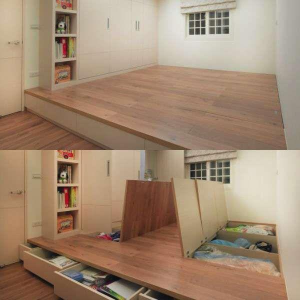 Une trappe de rangement dans le sol. 16 idées de camouflages pour bien aménager votre maison