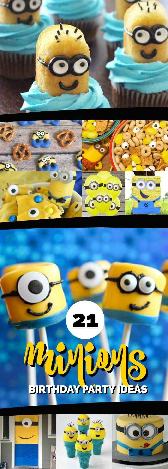 21 Mighty Minion Birthday Party Ideas via @spaceshipslb