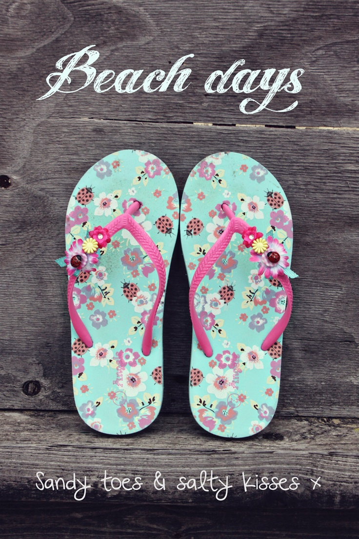 Flip Flops...IDEA, Use a pair of pretty hair barrettes to update a plain pair of sandals.