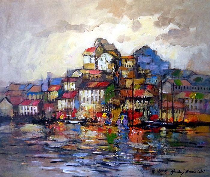 Porto Fino 24x20 by Andrzej Gudanski on ArtClick.ie