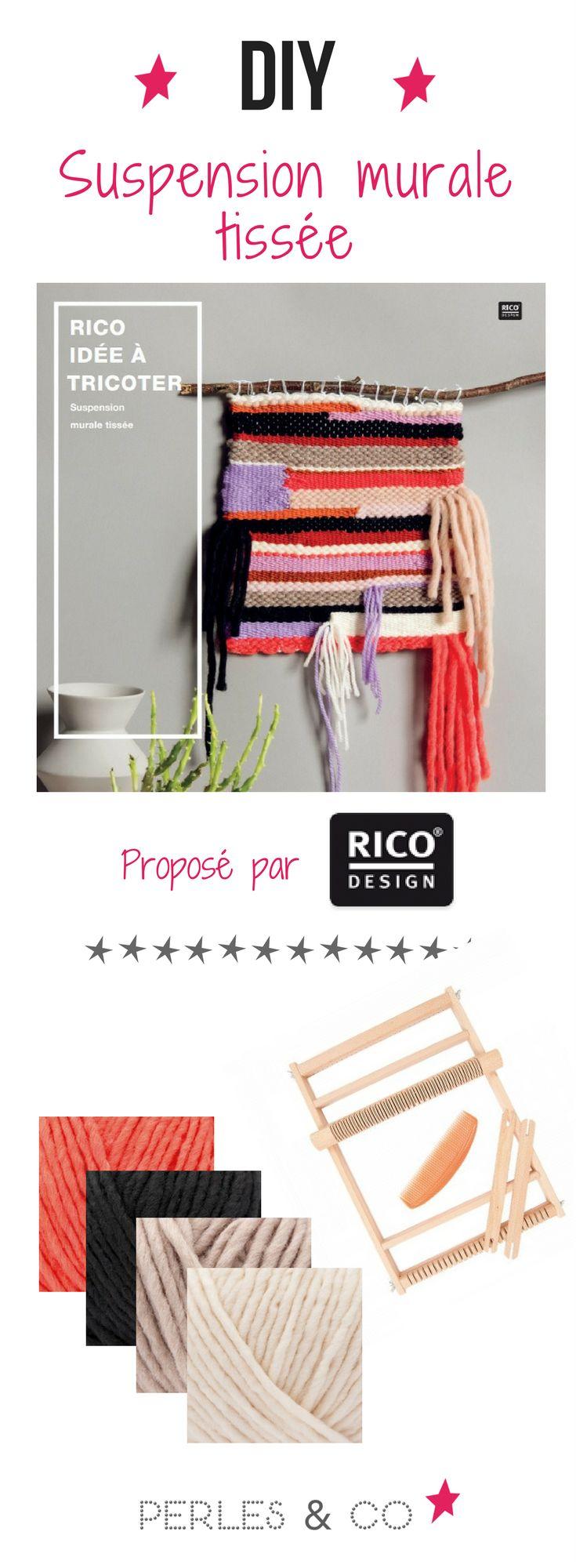 Réalisez grâce à ce tutoriel un tissage mural. Une jolie suspension murale tissée pour la décoration de votre intérieur ! Une décoration cocooning réalisée avec de la laine Rico Design !
