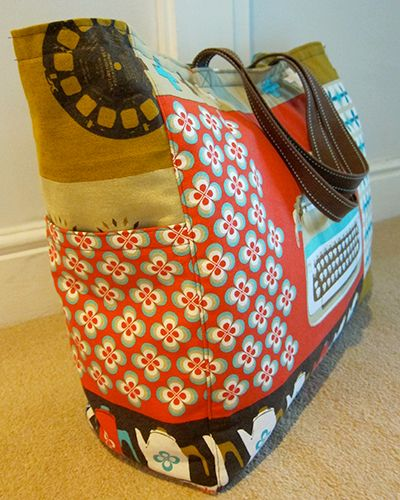 Big Weekend Bag Tutorial - Melody Miller - Ruby Star Shining Fabric | Guthrie & Ghani
