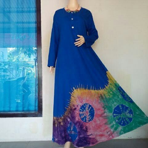BulBul Hijaz Dress Blue Small Flurball.... WORLDWIDE SHIPPING  #tiedye #bulbulhijaz #fashion