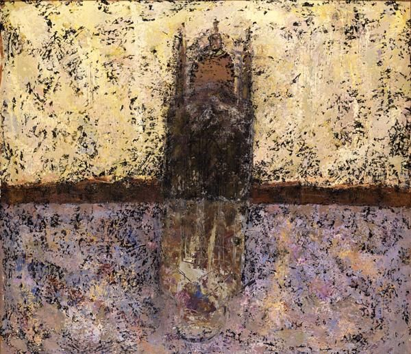 """The Church of the Redeemer, Venice,"" William Congdon, 1952, lacquer and oil on masonite, 48 3/4 x 56 1/8"", Toledo Museum of Art."