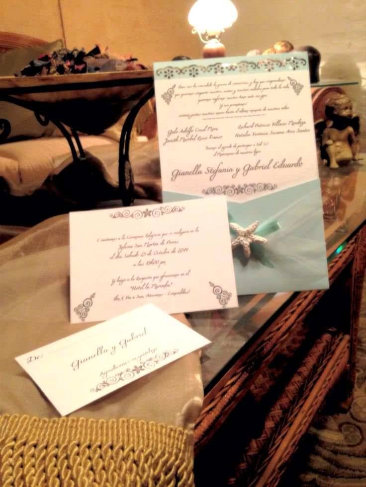 Wedding invitations.... Beach themed