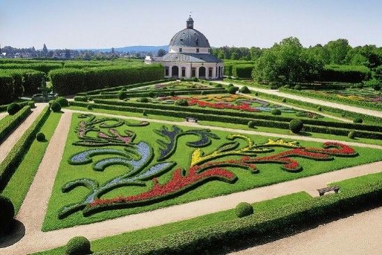 Gardens and Castle at Kromeriz, Czech Republic