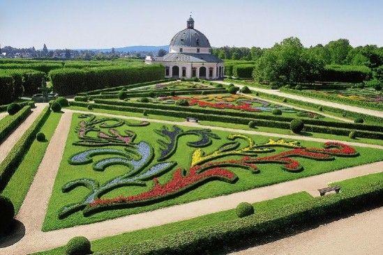 Gardens and Castle at Kromeriz, Czech Republic