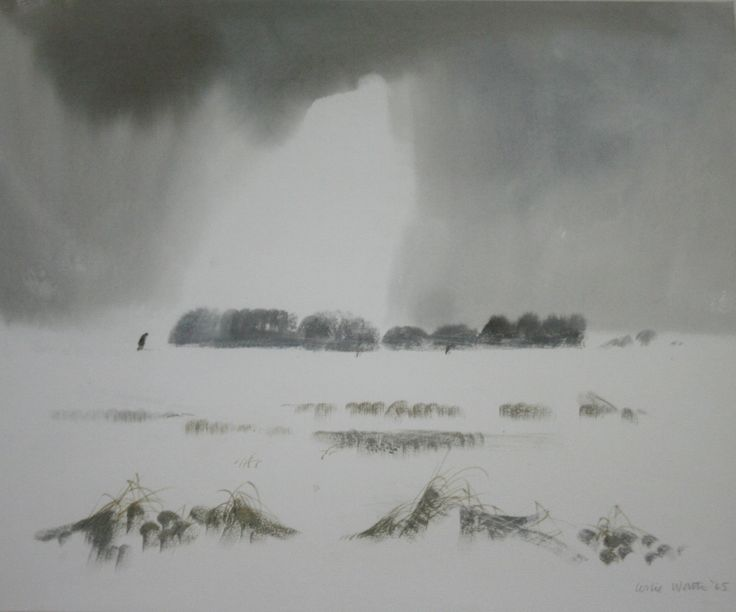 Lot 1353 - •LESLIE WORTH, OBE, PRWS (1923-2009) THE BREAK IN THE CLOUDS Signed and dated 65, watercolour 37 x