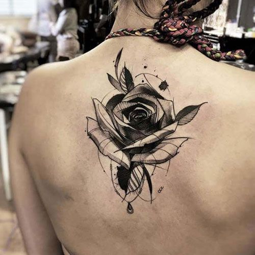 101 Best Rose Tattoo Ideas For Women 2020 Guide In 2020 Black Rose Tattoos Geometric Rose Tattoo Black Rose Tattoo Meaning