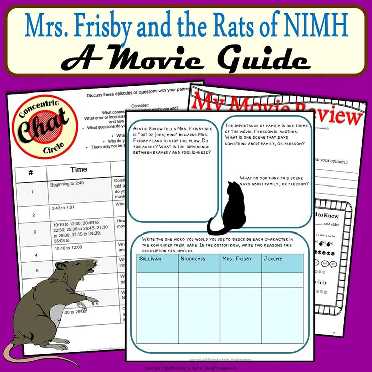 49 best teaching ela images on pinterest beds reading and baby books for students who read mrs frisby and the rats of nimh and will watch the fandeluxe Gallery