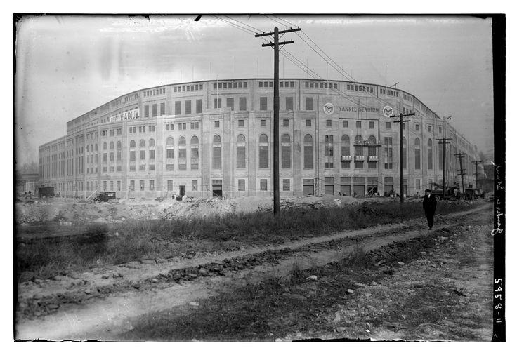 The Original Yankee Stadium - 1923, right before opening.