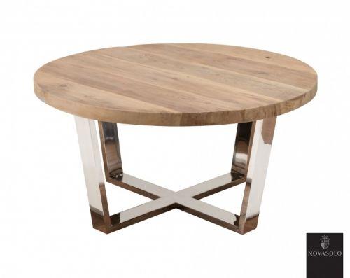 Tøft Avignon sofabord produsert i kombinasjon av et moderne understell i pusset rustfri stål og en røff og rustikk bordplate av resirkulert furu!Mål:Diameter 79 cmHøyde 40 cmMateriale:Resirkulert furuPusset rustfri stålVedlikehold:Vi anbefaler bruk avAntikvax.Pleieproduktet reduserer sprekker, smuss, forenkler renhold og tilfører en beskyttende hinne til treverket. Påføres umiddelbart.Tips, råd og annen informasjon:Bordet leveres ferdig montert. Bordplaten er produsert...
