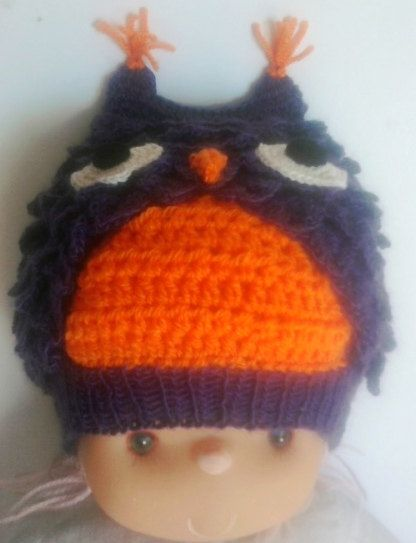 hand made crocheted owl shaped baby hat от BaByPrOdUcTsByGaLiNa