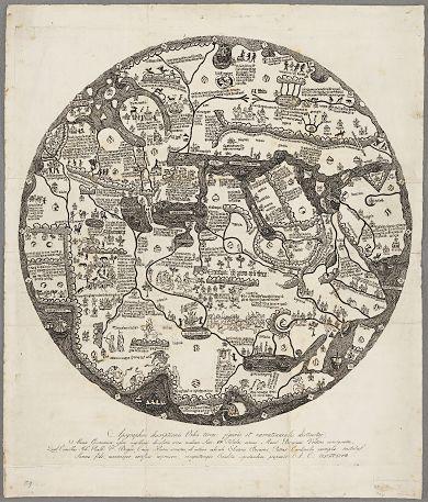Borgiakartan från 1797 och andra digitaliserade kartor från kungliga biblioteket