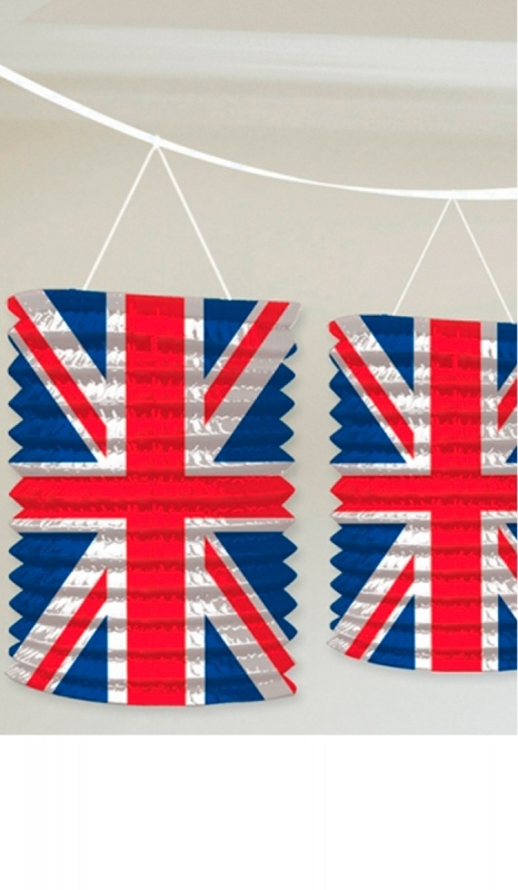 Union Jack lanterns - can't bring myself to take them down!