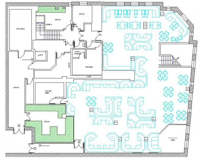 Restaurant Floor Plan With Dimensions Pdf Restaurant Floor Plan