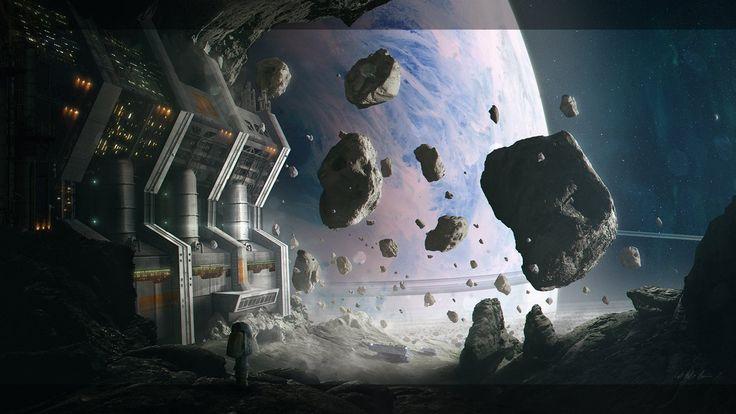 Asteroid Mining Facility by Gabriel-BS.deviantart.com on @DeviantArt
