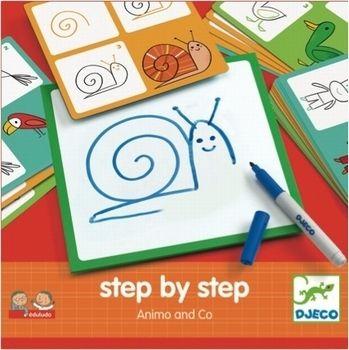 #Coloring #Animals step by step by #Djeco Dieren leren tekenen 3j from www.kidsdinge.com  http://instagram.com/kidsdinge  https://www.facebook.com/kidsdingecom-Origineel-speelgoed-hebbedingen-voor-hippe-kids-160122710686387/  #toys #Speelgoed #Kidsroom #Kidsdinge