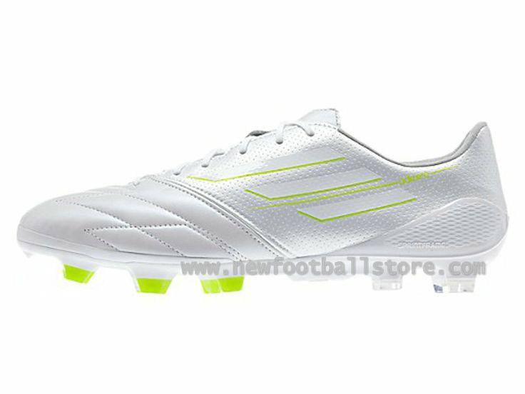 Homme Adidas Chaussures Adizero Leo Messis F50 XI TRX FG Synthetic Vert  Adizero F50c Blanc, Style - Couleur #F327890