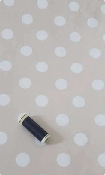 Spot Oilcloth Fabric, PVC Vinyl Tablecloth Fabric | Taupe Spots