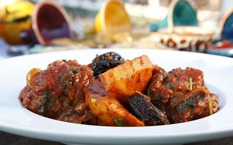 Saffron Lamb with Prunes Recipe by Jenny Morris