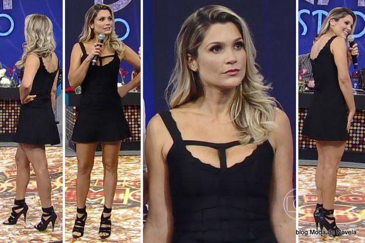 Look da Flávia Alessandra no Domingão do Faustão dia 27 de julho