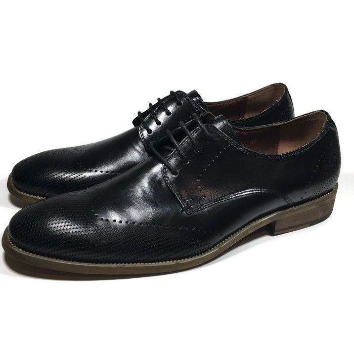 Steve Madden DODGERR Mens Black Leather Dress Oxford Shoes SIZE 9 | eBay