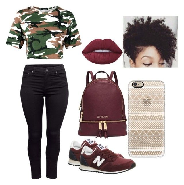 """""""""""The darker the berry the sweeter the juice"""" ~Tupac; Keep yeah head up"""" by fm-master on Polyvore featuring H&M, New Balance, Lime Crime, Michael Kors, Casetify and tupac"""