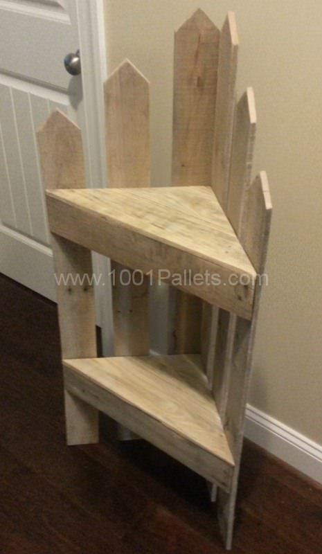 Pallet Corner Shelf Entrance Pallet Projects Pallet Shelves