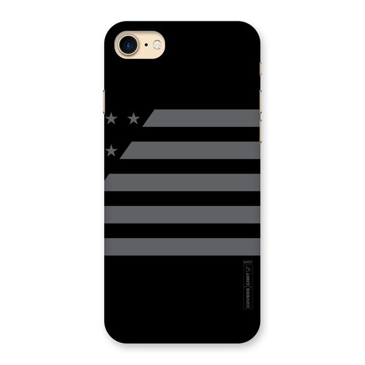 Grey Star Striped Pattern Back Case for iPhone 7 | Mobile Phone Covers & Cases in India Online at CoversCart.com
